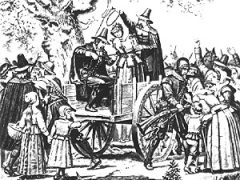 Illustration of the hanging of Bridget Bishop
