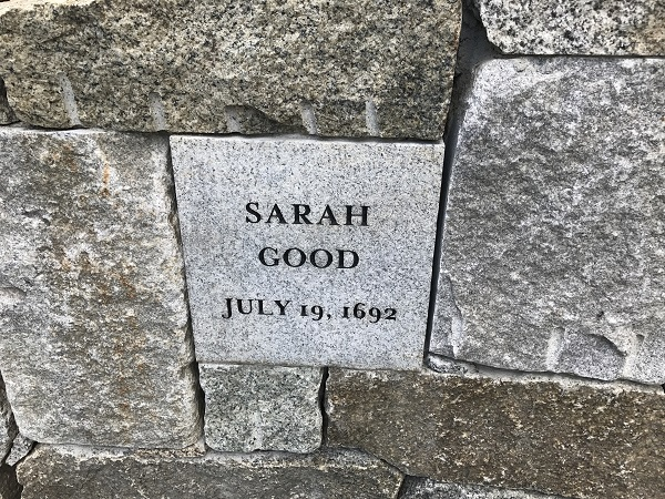 Sarah Good's Memorial Marker, Proctor's Ledge Memorial, Salem, Mass