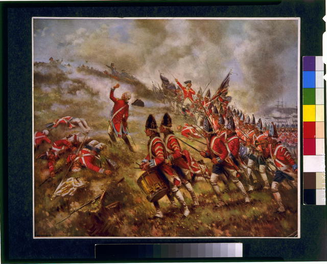 """Battle of Bunker Hill"" oil painting by Edward Percy Moran circa 1909"