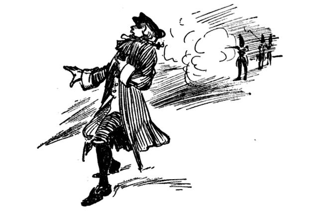 Boston massacre, illustration published in From the Boston Massacre to the Surrender of Burgoyne, circa 1895