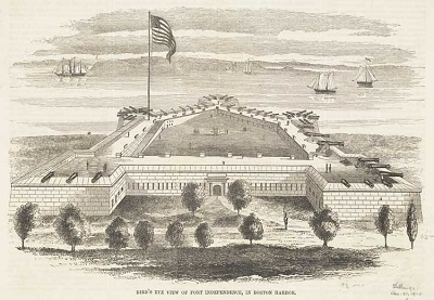 Illustration of Fort Independence, circa 1852
