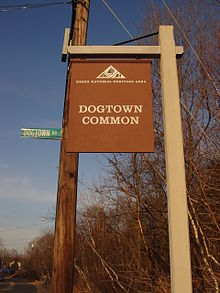 Entrance to Dogtown Common on Cherry Street