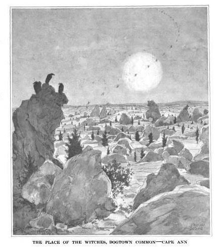The place of the witches, dogtown common - cape ann, illustration published in Harper's Magazine, volume 140, circa 1919-1920