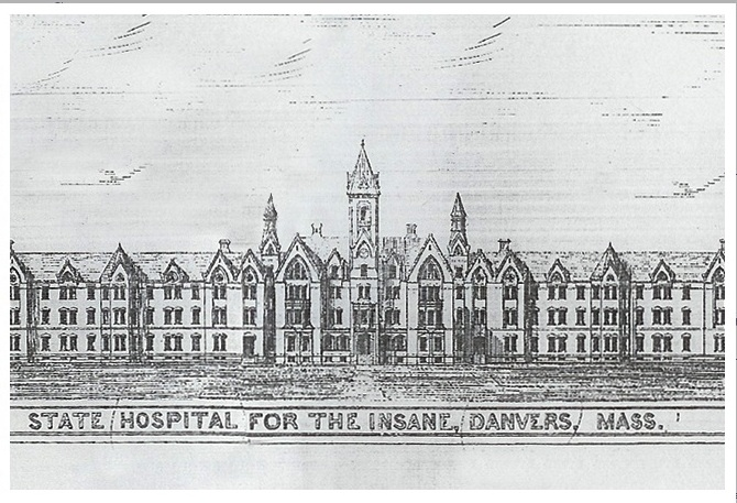 Danvers State Hospital illustration circa 1875