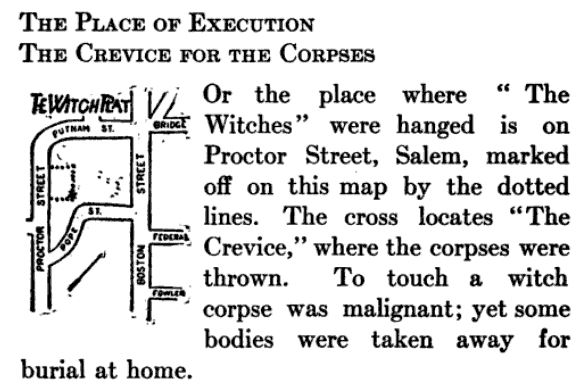 The Place of Execution, illustration published in A Short History of the Salem Village Witchcraft Trials, circa 1911