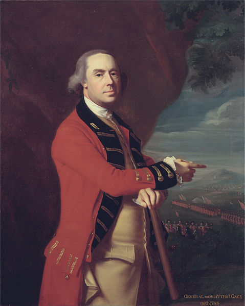 General Thomas Gage, oil painting by John Singleton Copley circa 1788