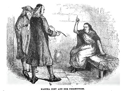 """Martha Corey and Her Persecutors,"" illustration published in Stranger's Guide to Boston and its Suburbs, circa 1883"
