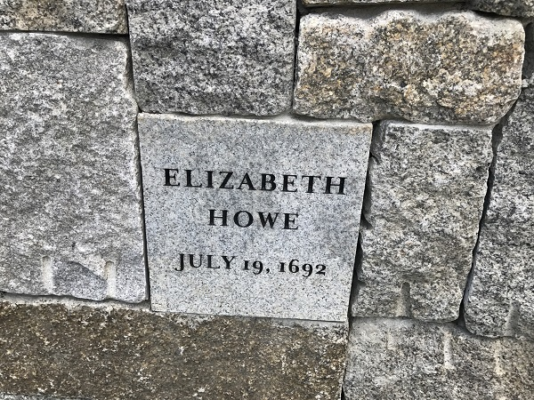 Elizabeth Howe's Memorial Marker, Proctor's Ledge Memorial, Salem, Mass