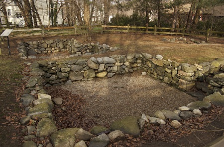Foundation of the Salem Village Parsonage, Danvers, Mass