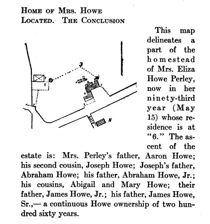 """Howe family farm, illustration published in """"A Short History of the Salem Village Witchcraft Trials,"""" circa 1911"""