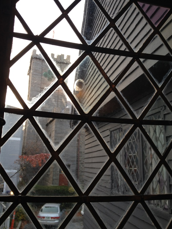 View of the First Church of Salem from the Witch House, Salem, Mass, November 2015. Photo Credit Rebecca Brooks