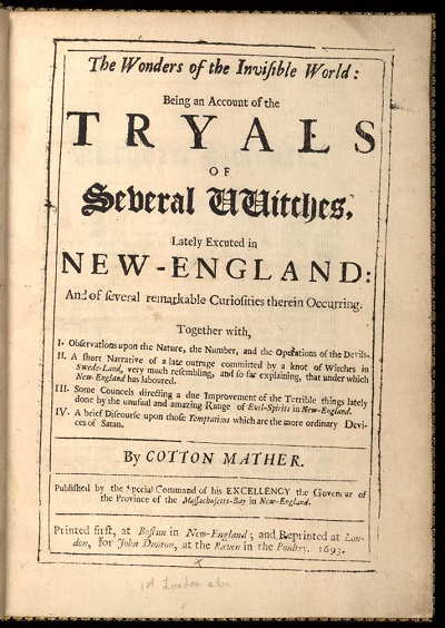 Wonders of the Invisible World by Cotton Mather