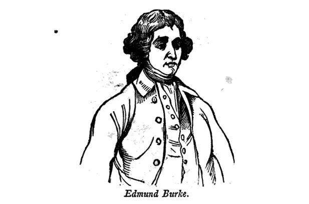 """Edmund Burke."" Illustration published in a Pictorial History of the United States circa 1852"