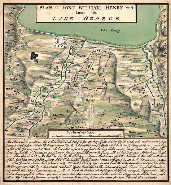 Plan of Fort William Henry on Lake George circa 1760