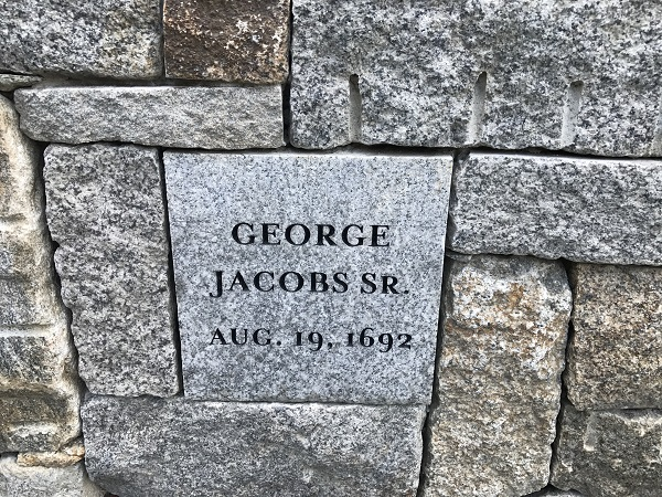 George Jacobs, Sr, Memorial Marker, Proctor's Ledge Memorial, Salem, Mass