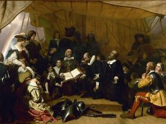 Embarkation of the Pilgrims, oil painting by Robert W. Weir, circa 1844