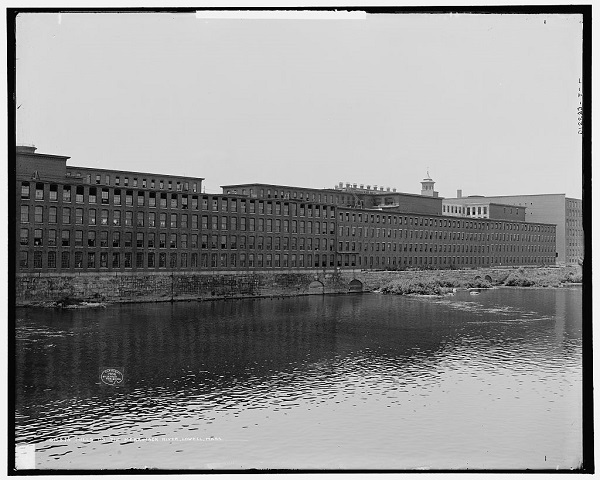 Mills on the Merrimack River, Lowell, Mass, circa 1908
