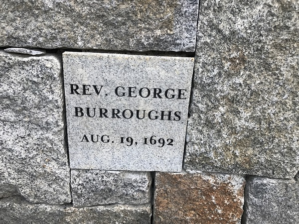 George Burroughs' Memorial Marker, Proctor's Ledge Memorial, Salem, Mass
