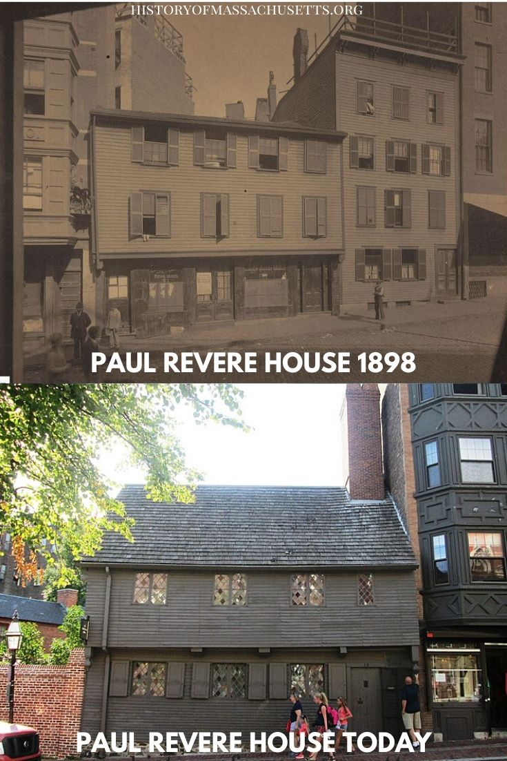 Paul Revere House in 1898