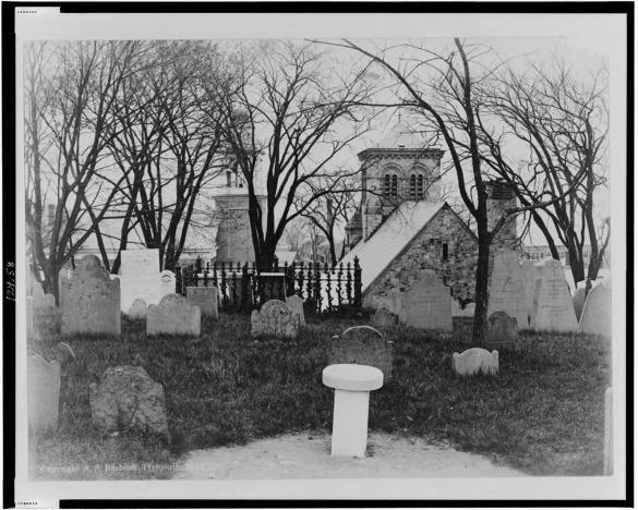 Burial Hill, Plymouth, Mass, circa 1916
