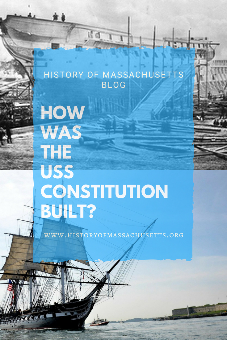 How was the USS Constitution built?