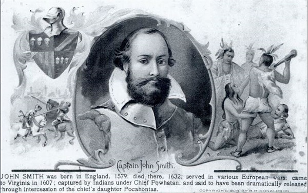 Postcard depicting image of Captain John Smith