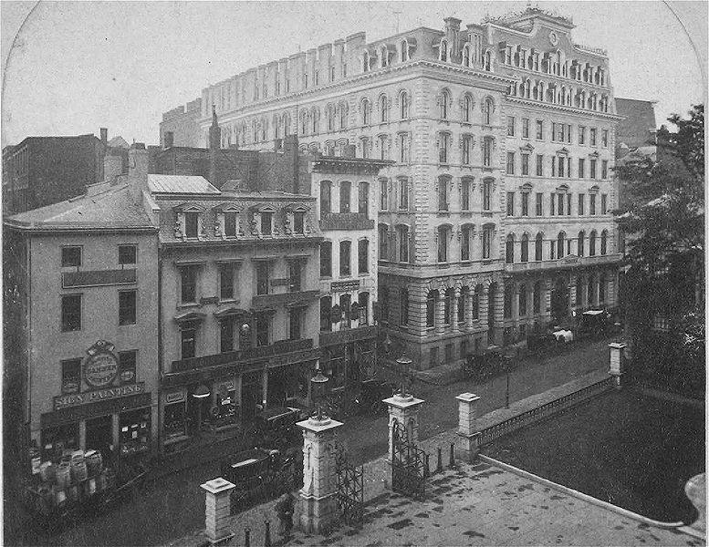 The Parker House, Boston, Mass, circa 1866