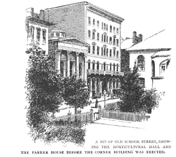 The Parker House, illustration published in the New England Magazine, circa 1895-1896