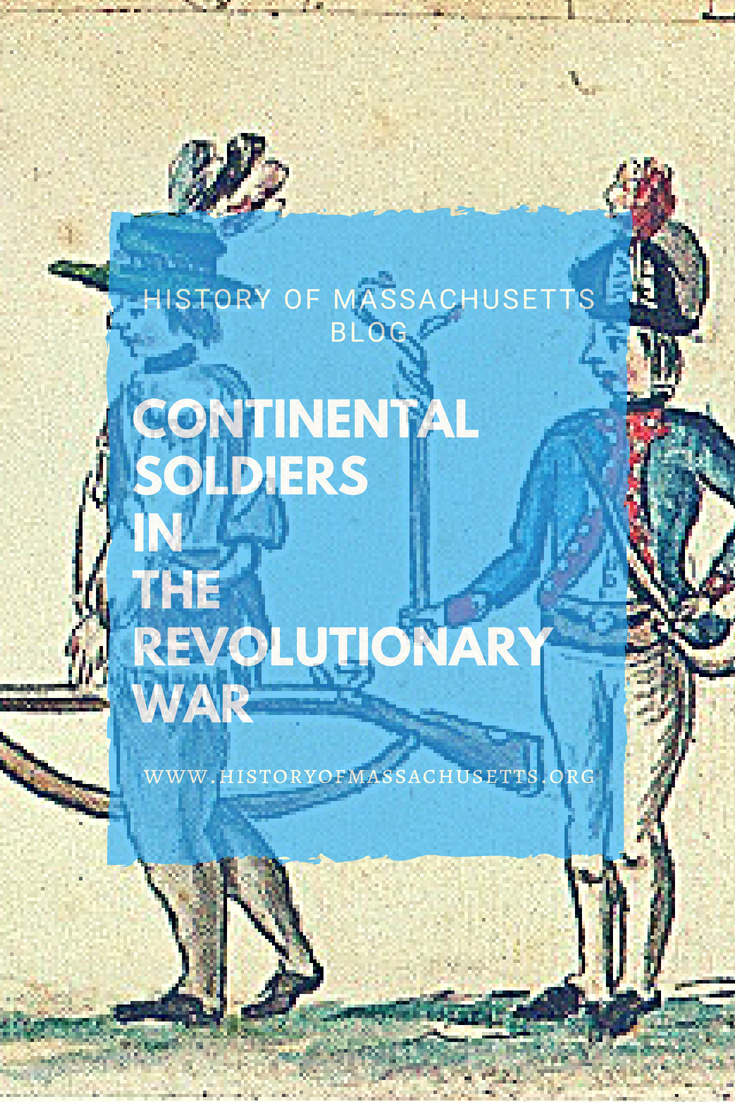 Continental Soldiers in the Revolutionary War
