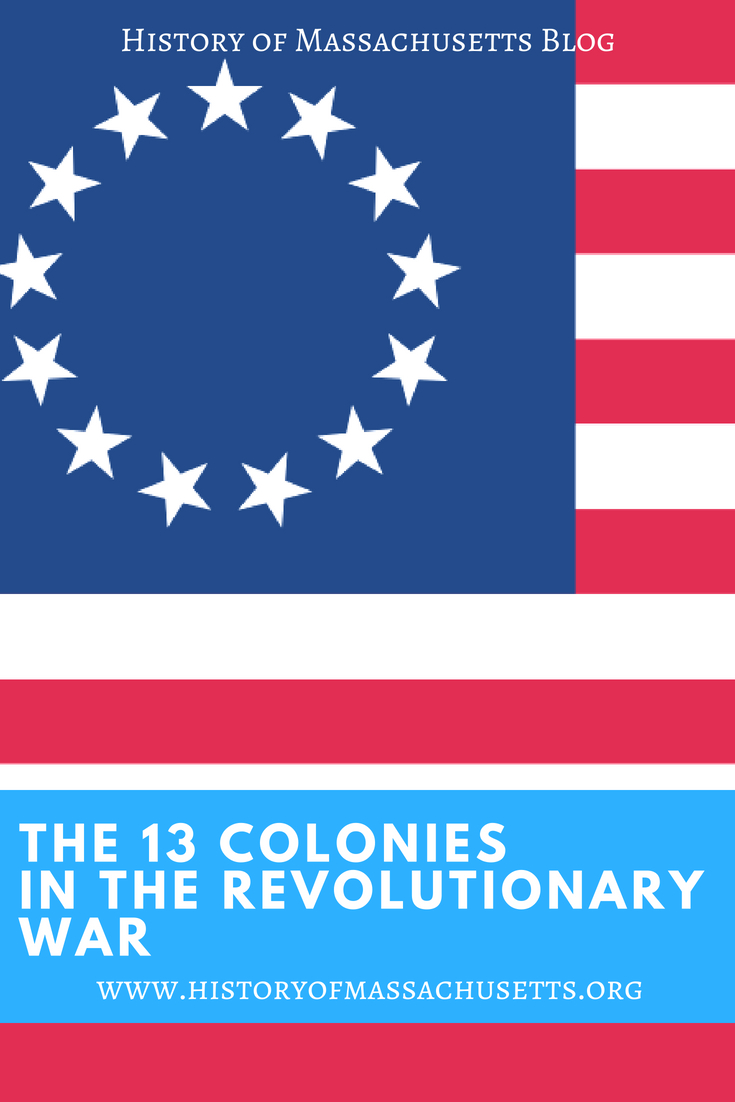 The 13 Colonies in the Revolutionary War