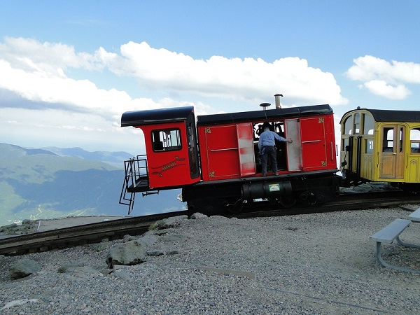 Mount Washington Cog Railway in the White Mountains of New Hampshire.