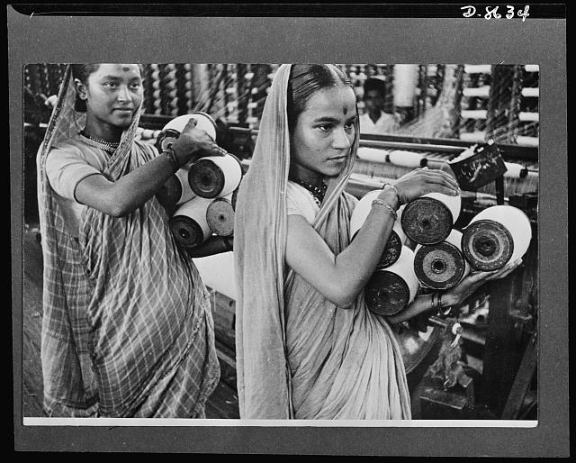 Women workers in a booming Bombay textile mill, circa 1941-1943