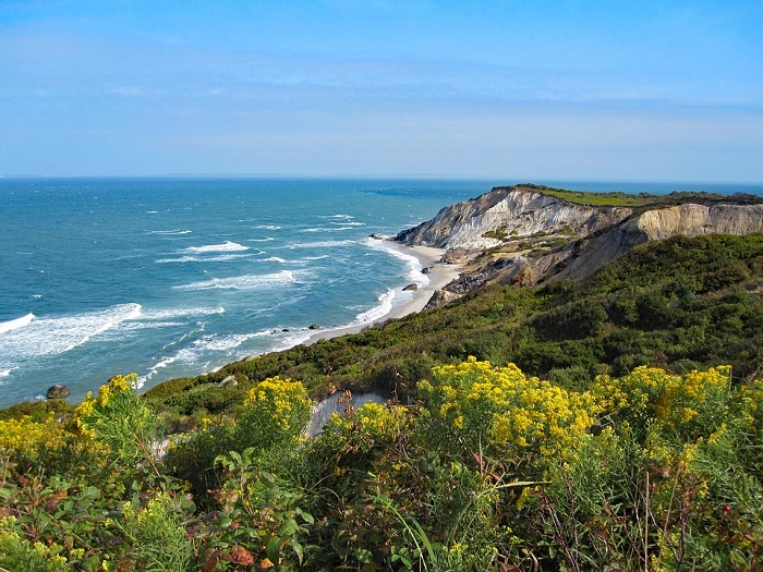 Aquinnah, Massachusetts on the island of Martha's Vineyard in Cape Cod.