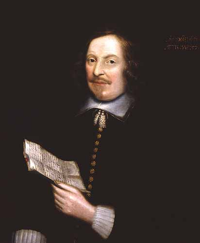 Portrait of Plymouth Colony Governor Edward Winslow circa 1651