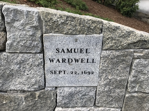 Samuel Wardwell's memorial marker, Proctor's Ledge Memorial, Salem, Mass