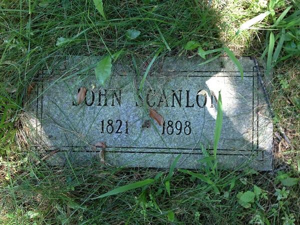 Grave of John Scanlon, Danvers State Hospital Cemetery, Danvers, Mass