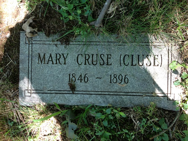 Grave of Mary Cruse (Cluse), Danvers State Hospital Cemetery, Danvers, Mass