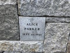Alice Parker Memorial Marker, Proctors Ledge Memorial, Salem, Mass