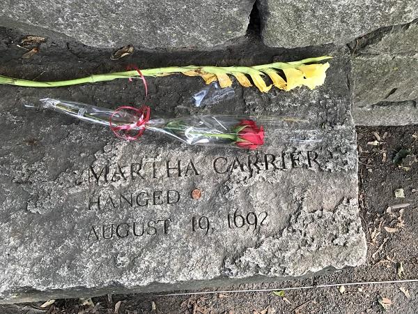 Martha Carrier Memorial Marker, Salem Witch Trials Memorial, Salem, Mass