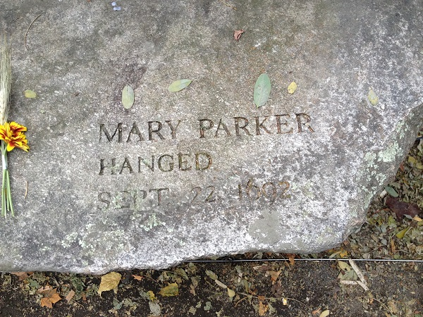 Mary Parker, Memorial Marker, Salem Witch Trials Memorial, Salem Mass