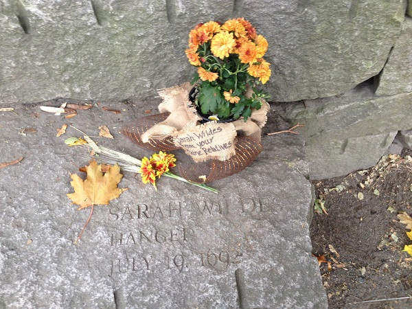 Sarah Wildes, Memorial Marker, Salem Witch Trials Memorial, Salem Mass