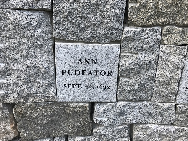 Ann Pudeator, Memorial Marker, Proctors Ledge Memorial, Salem, Mass