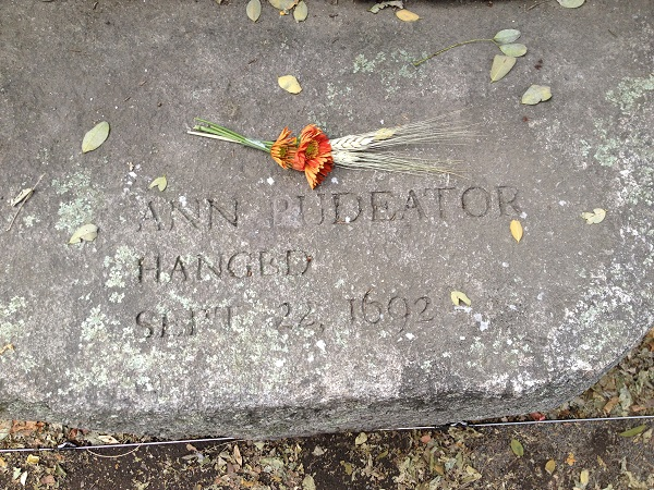 Ann Pudeator, Memorial Marker, Salem Witch Trials Memorial, Salem Mass