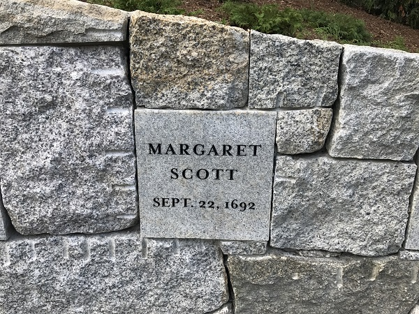 Margaret Scott, Memorial Marker, Proctor's Ledge Memorial, Salem, Mass