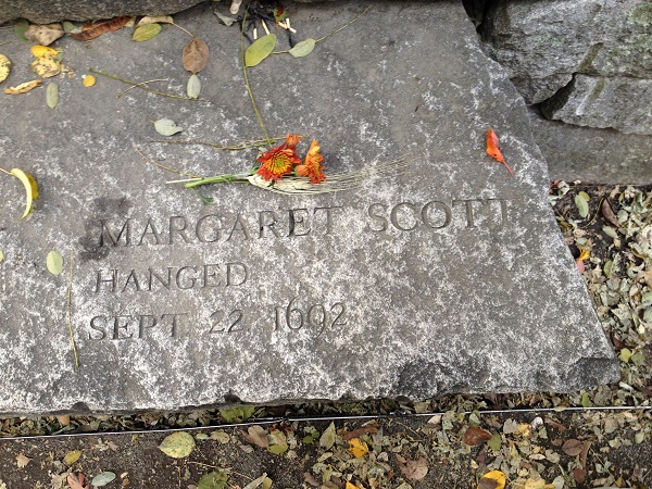 Margaret Scott, Memorial Marker, Salem Witch Trials Memorial, Salem, Mass