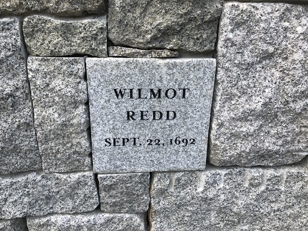 Wilmot Redd, Memorial Marker, Proctor's Ledge Memorial, Salem, Mass