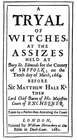 Tryal of Witches by Sir Matthew Hale