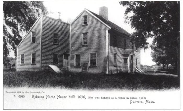 Rebecca Nurse Homestead, Danvers, Mass, postcard, circa early 1900s