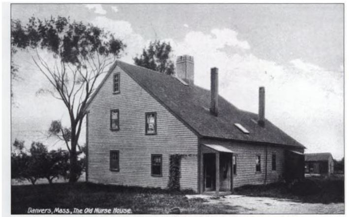 """Danvers, Mass, The Old Nurse House,"" postcard, date unknown"