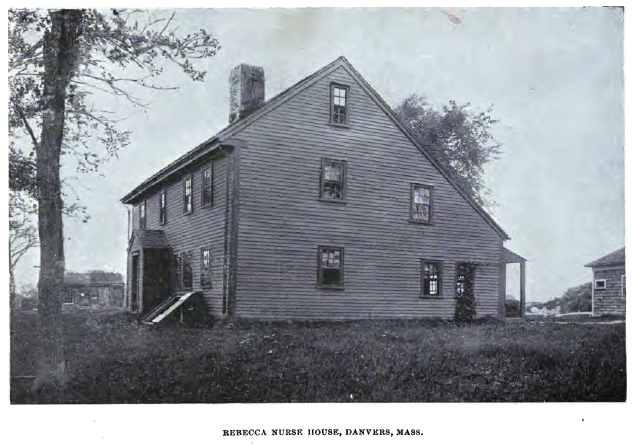 Rebecca Nurse House, Danvers, Mass, photo published in Witchcraft Illustrated by Henrietta D. Kimball in 1892